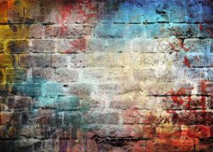 Vzhled posprejované zdi