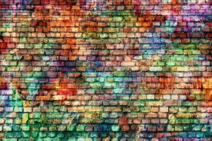 barevná zeď