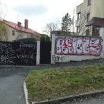 Odstranění Praha, graffiti