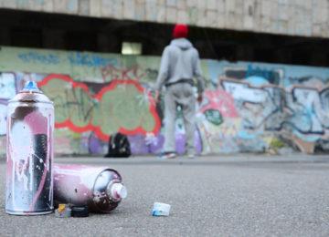 Graffiti, fasády Brno