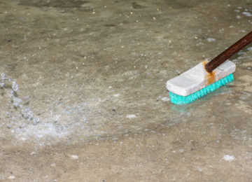 Umývanie betonovej podlahy