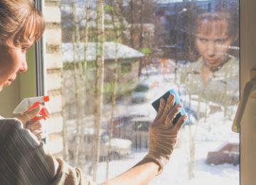 okna mytí ve výškách